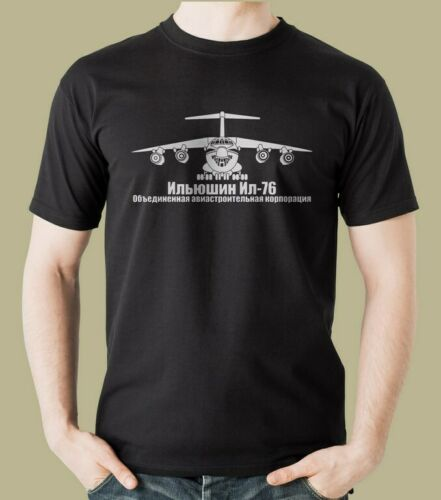 Ilyushin Il-76 Series Plane T-Shirt Vehicle Armed Assault Russian Air Force New 2019 Men'S Printed Top Quality Printed Shirts