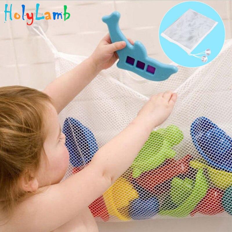 Newborn Baby Suction Storage Net Folding Hanging Bag Mesh Gift  Kids Infantil Baby Bath Tub Toy Storage Organiser For Bathroom