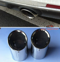 2PCS Chrome Exhaust Muffler Tip Pipe For Cadillac ATS 2013 2014 2015 2016
