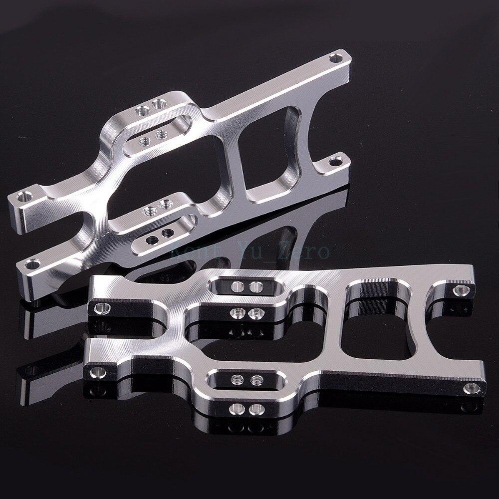 108019S HSP alumīnija priekšējā apakšējā balstiekārta RC 1/10 automašīnai 08005 Upgrade Parts, Silver
