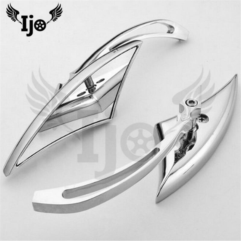 classic chrome motorcycle accessories rearview mirror for Vespa benelli Harley Davidson ktm exc pitbike retroviseur moto mirror