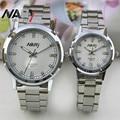 Nary Brand Silver Sainless Steel Men Women Wristwatch Waterproof Quartz Watch Couples Watches Relogio Masculino Feminino Reloj