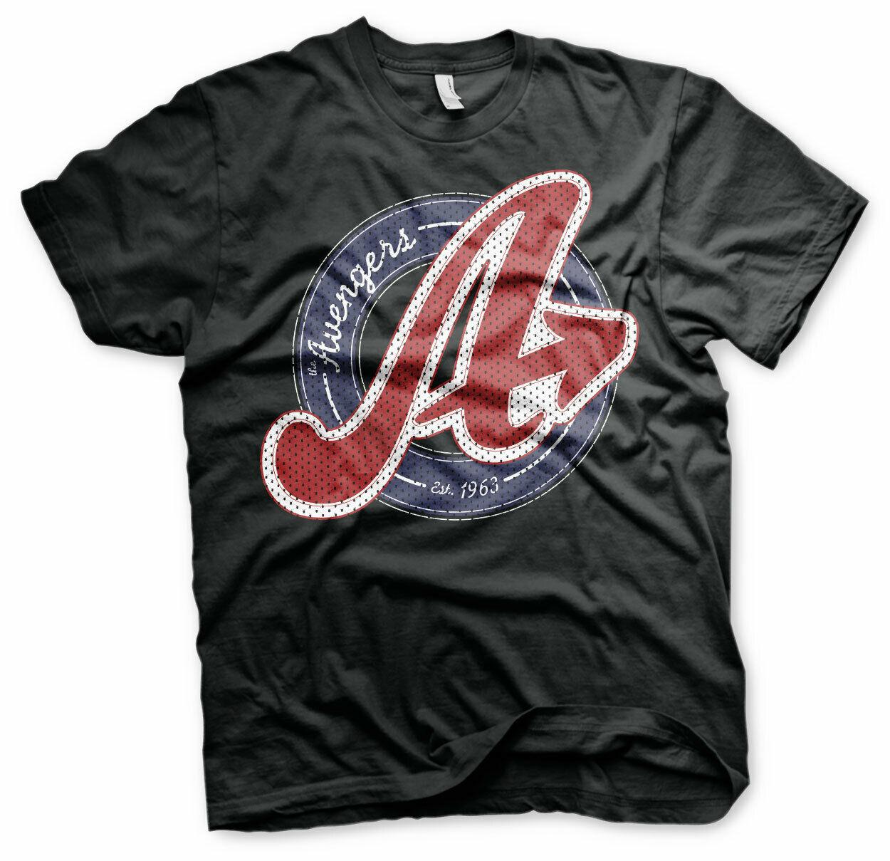 Sizes S Official Licensed Marvel Avengers Logo XXL Mens T-Shirt Tee