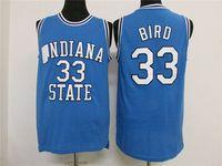 Indiana State Sycamores LARRY BIRD #33 Retro Throwback BasketballJERSEY Nero bianco Personalizzare qualsiasi numero di misura a
