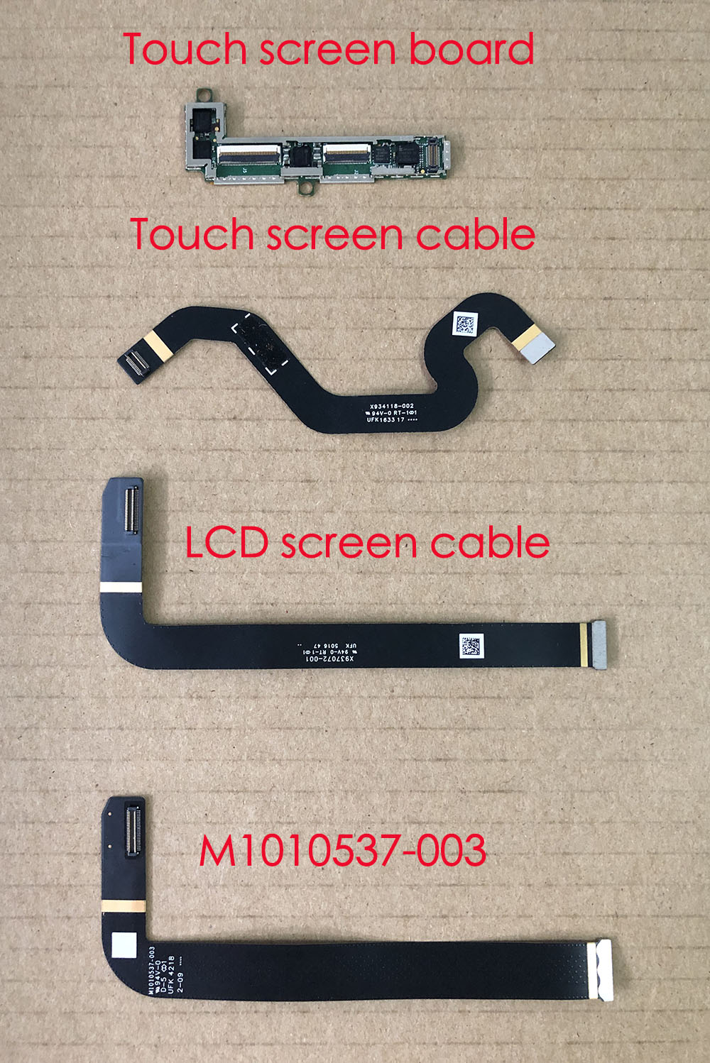 LVDS Cable For Microsoft Surface Pro4 1724 Touch LCD Flex Cable Connectors Small Board X934118-002  X937072-001 M1010537-003