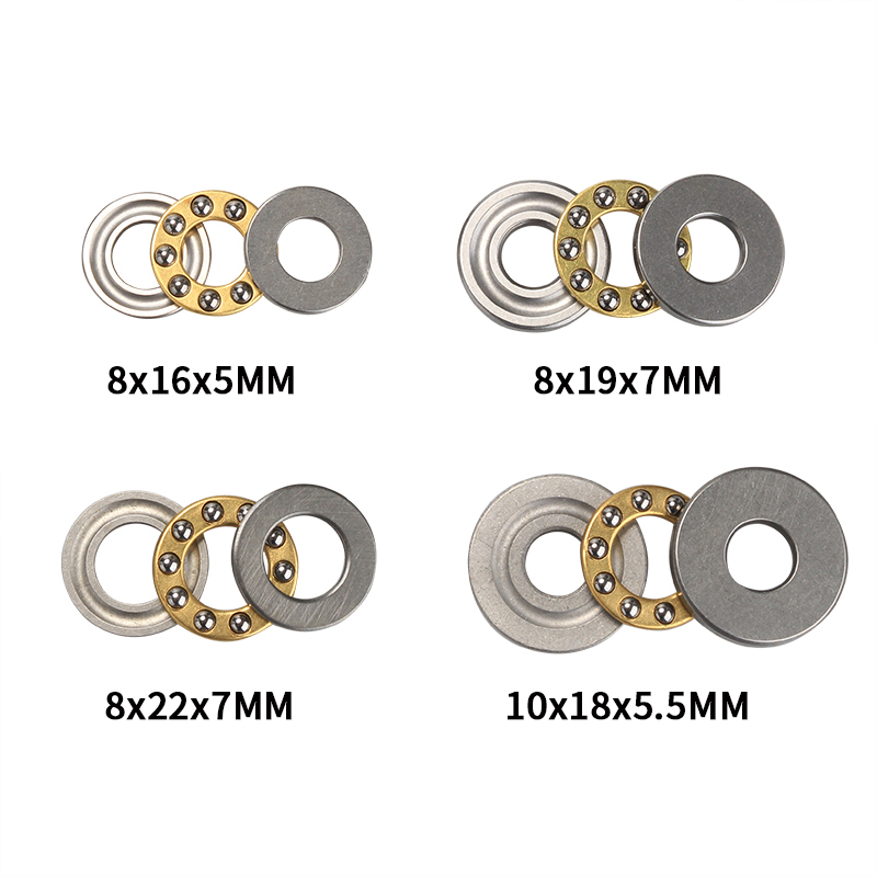 10PCS F8-22M Axial Thrust Ball Bearings 8mm x 22mm x 7mm