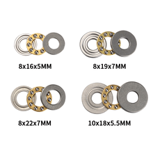 1Pcs Miniature Thrust 8mm/10mm Ball Bearings F8/F10 Metal Axial Ball Bearing Set Hardware Parts thrust ball bearings axial 51128 abec 1 p0 140 180 31mm 1 pc