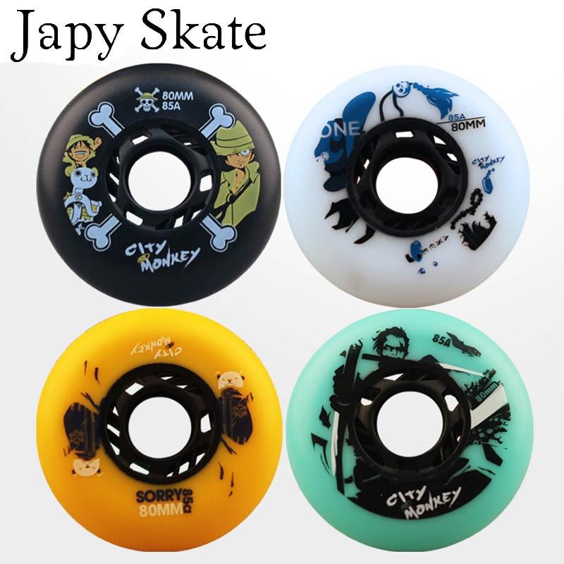 Japy Skate City Monkey Skate Wheels 85A Slalom Braking Roller Skate Shoes Wheels SEBA Skates Wheels