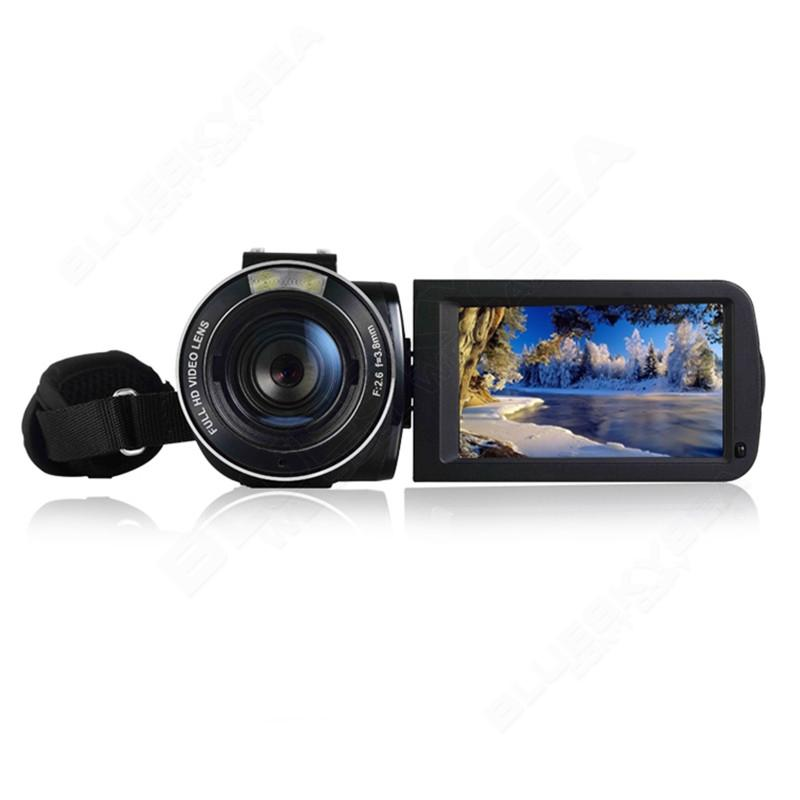 """ORDRO HDV-Z Microphone Camcorder 3.0"""" Touch Screen LCD 24MP 16X Zoom Digital Video Camera 1080P Full HD Wifi Remote Control 21"""
