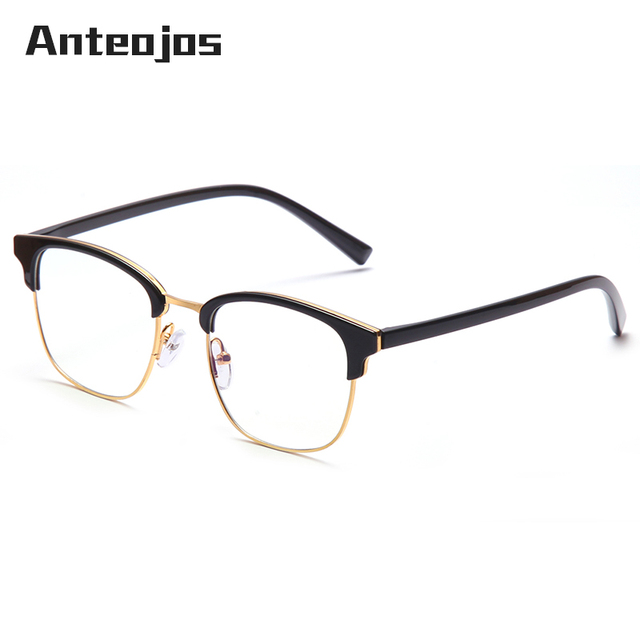 2b4bb3515 ANTEOJOS 2019 Student Retro Square Blue Blocking Computer Glasses Anti Blue  Light Glasses Clear Eye Glass