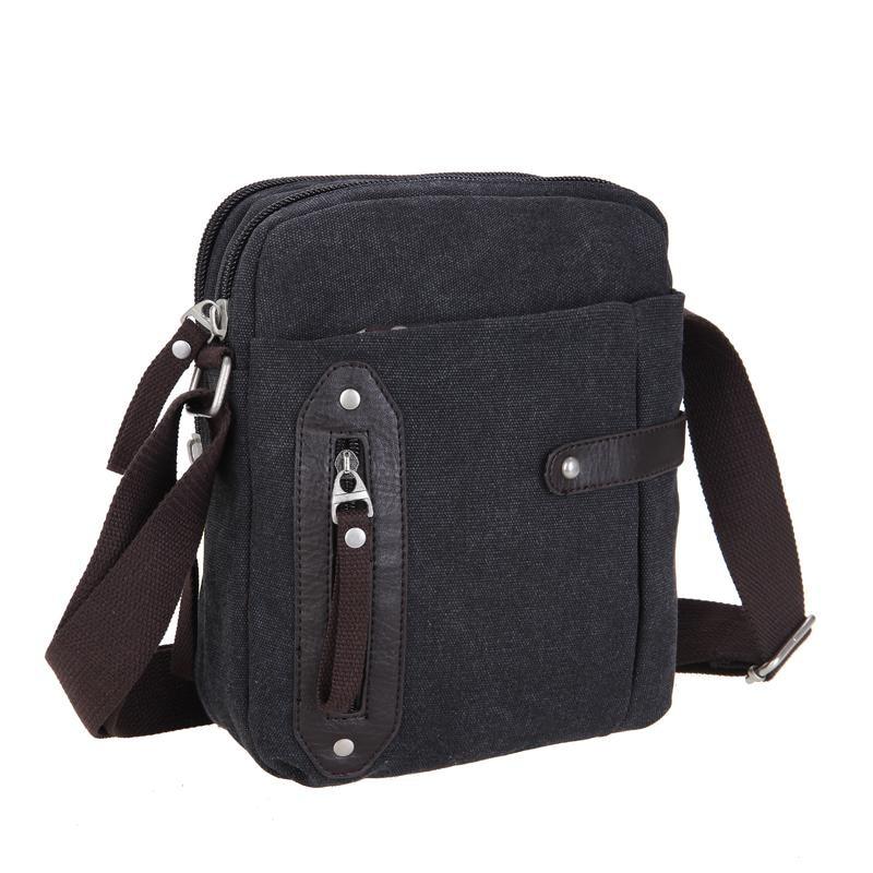 ФОТО 2017 New Men's Crossbody Bags Best Quality Canvas Messenger bags Men Leisure bag Hot Sale Men Designer Small travel Bags LI-1805