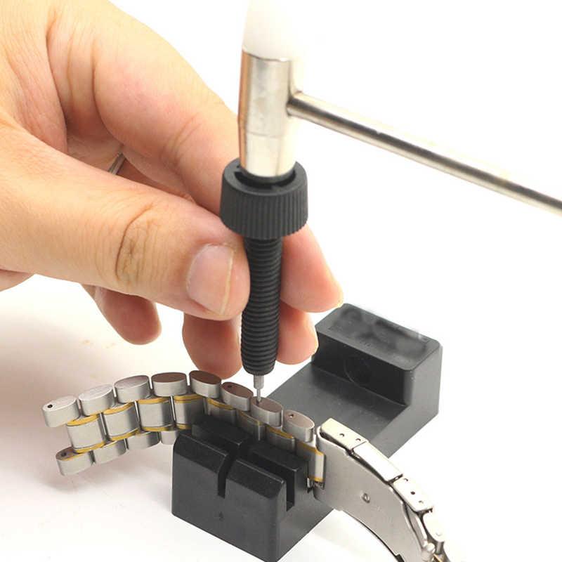1 adet Metal ayarlanabilir saat Band kayışı bilezik bağlantı pimi sökücü DIY onarım aracı takımı izle parçaları