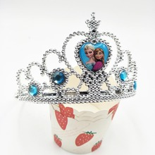 crown frozen Ice And Snow Princess/Anna Elsa Cartoon Theme Headwear Baby Shwer Favor Party Decoration Girl Birthday disney