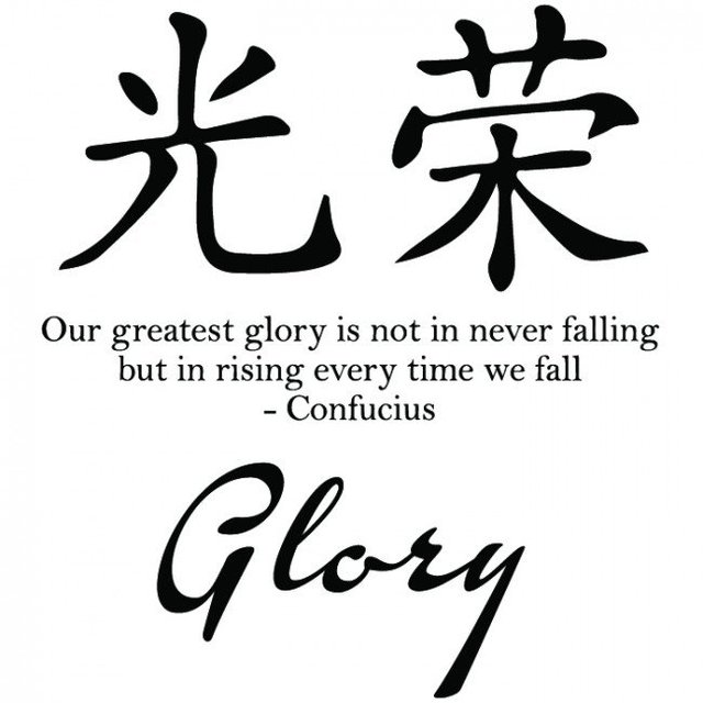 Glory Symbol Confucius Chinese Proverb Wall Stickers Artistic Design