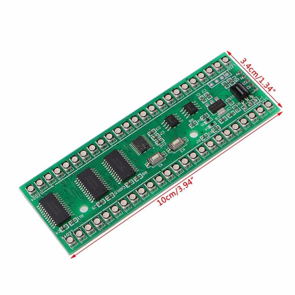 LED חיווי RGB MCU תצוגת דפוס כפול ערוץ 24 LED VU רמת אינדיקטורים מד F מגבר