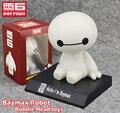"""Бесплатная доставка симпатичные 4 """" большой герой 6 Baymax робот bobble-головой трясущейся головой игрушечной модели автомобиля украшения 10 см коробку пвх фигурку игрушки"""