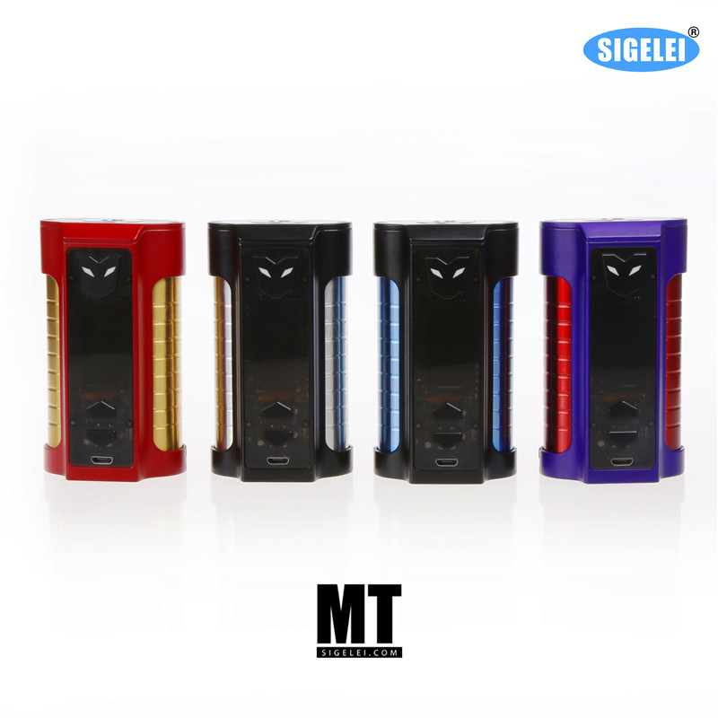 100% original from company 2017 Newest Sigelei  E electronic cigarette MT 220W mod TC e cigarette vapor box vape mod