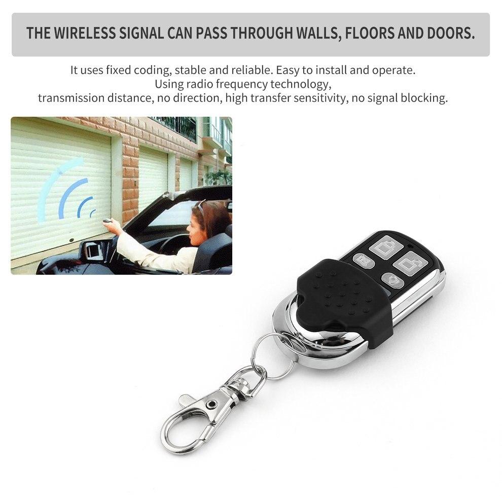 10 pcs Universel Sans Fil 4-clé Auto Télécommande Électrique Clonage Porte de Garage Porte Télécommande Fob Clé Keychain