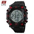 2016 Nueva TTLIFE Luxury Brand Hombres Deportes Militares Relojes de moda correa de caucho LED Digital Relojes de Pulsera relogio masculino