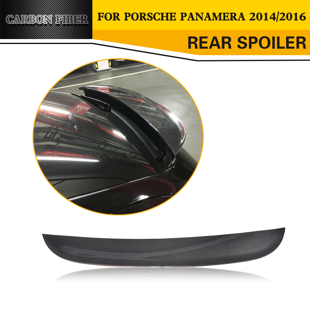 Carbon Fiber Racing Trunk Rear Spoiler Wing Car Styling for Porsche Panamera 2014 2016 car styling carbon fiber auto rear wing spoiler lip for vw scirocco 2010 2012