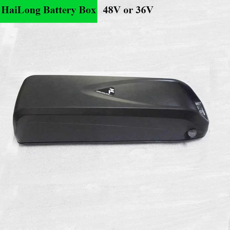 Hai Long battery storage Plastic box with 48V or 36V capability for electric bicycle li-ion battery or E-Bike Battery  houser