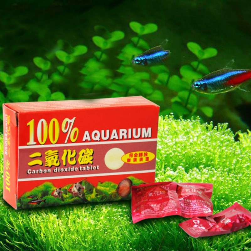 CO2 Dioxide Aquarium Aquatic Plant Fertilizer Tablets For Plants Aquarium Fish Tank Diffuser Plant Co2 Aquarium Accessory