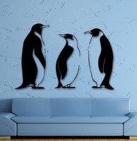 Decalcomania del vinile Penguins Funny Animal Bagno Decor Art Wall Stickers Murale