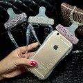 Роскоши алмаза милый мультфильм детская соска бутылки молока мобильный телефон чехол для iPhone 6 6 плюс 5S SE тпу телефон с ремешок