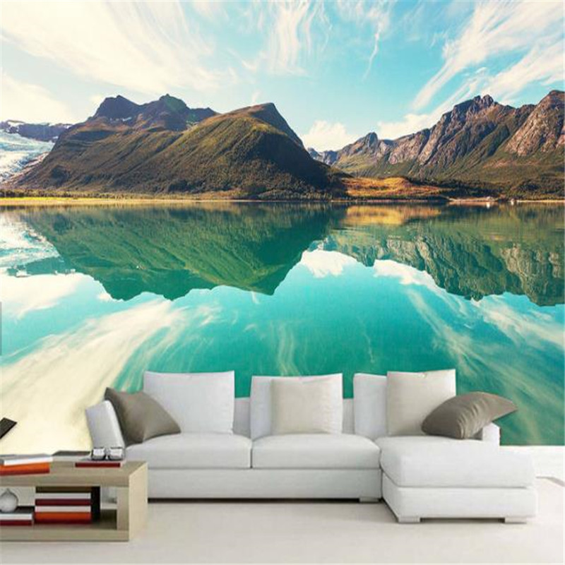 Custom Photo Wallpapers Natural Landscape Blue Sky Murals Wallpapers for Living Room Background Walls Papers Home Decor Bedroom цена