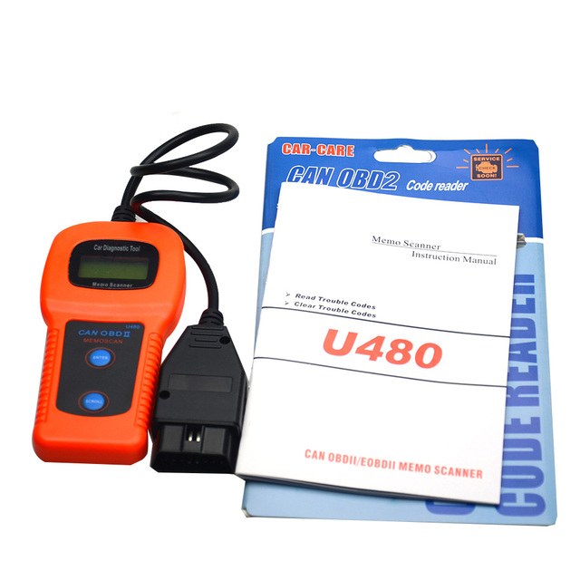 Free Shipping Professional U480 OBD2 OBDII CAN BUS Code Reader Engine Scanner Automotive Diagnostic Scanner Tool Vehicle Tester
