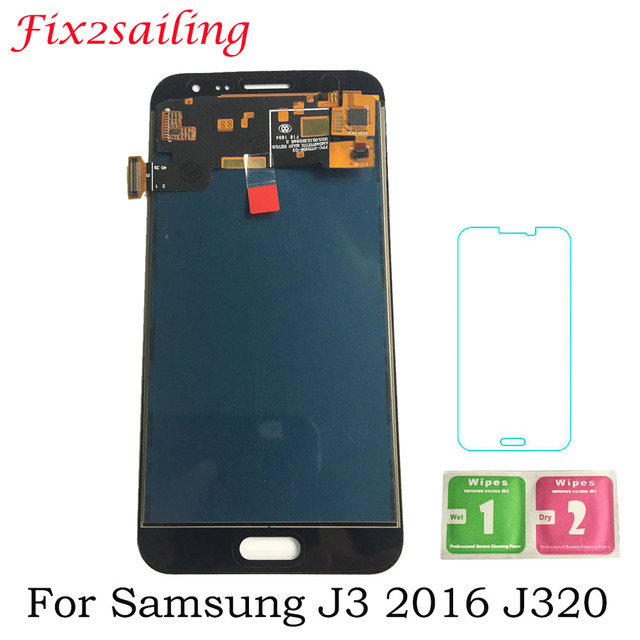 5.0inch For Samsung Galaxy J3 2016 J320 J320A J320F J320M LCD Display With Touch Screen Digitizer Assembly Adjust Brightness