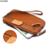 New Genuine Leather Universal Phone Case For 5 5 To 6 3 Inch Screen Phones Wallet
