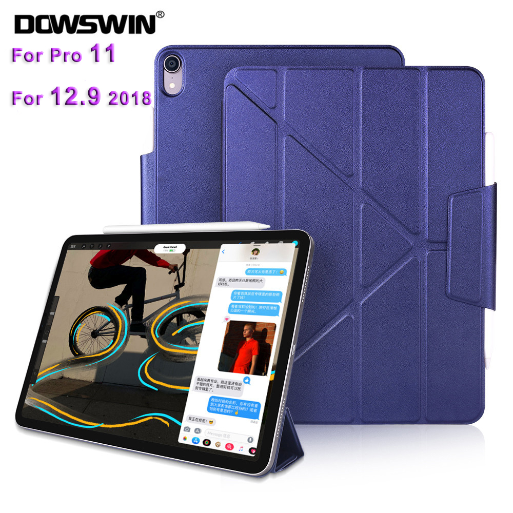DOWSWIN Case For iPad Pro 11 2018 leather for 12.9 Multiple Magnetic New