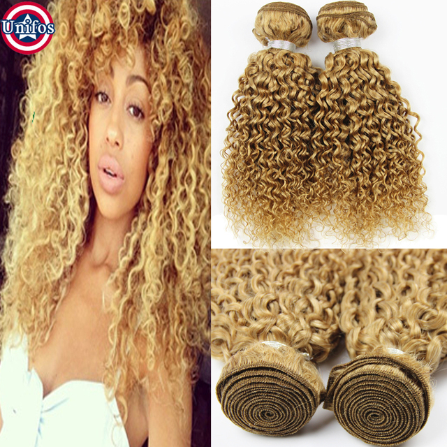 Blonde Brazilian Curly Hair Extensions Brazilian Honey Blonde Curly