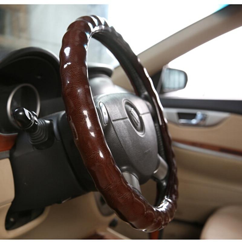 2017 Faux Wooden racing Steering Wheel 38cm Car Steering Wheel Cover Chameleons Case for BMW/hyundai/Honda/Volkswagen VW golf 4 music for chameleons