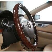 2017 Faux Wooden racing Steering Wheel 38cm Car Steering Wheel Cover Chameleons Case for BMW/hyundai/Honda/Volkswagen VW golf 4