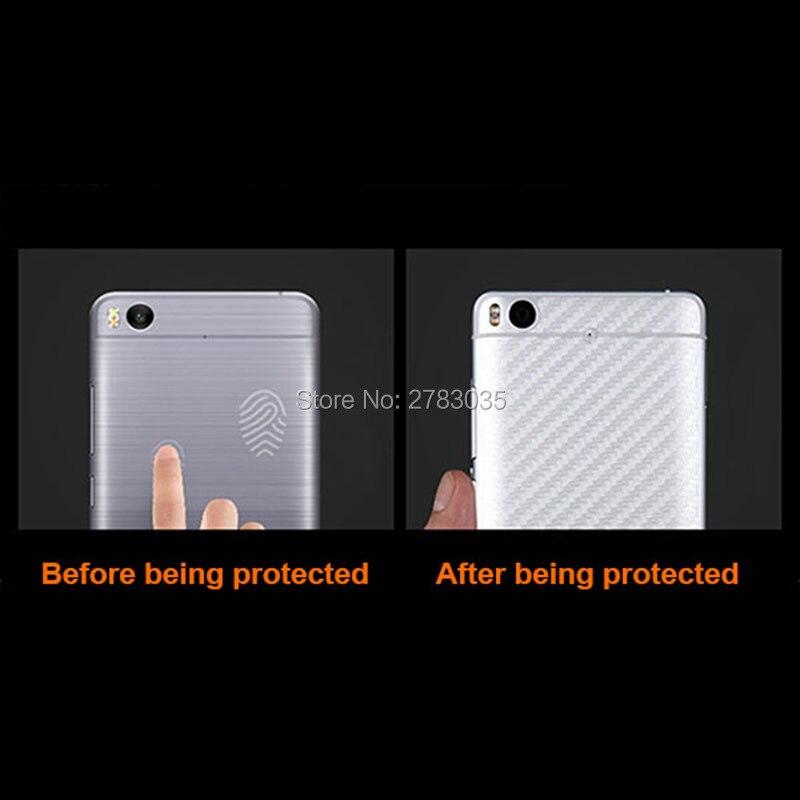 For Huawei P20 5.8 New Durable 3D Anti-fingerprint Transparent Carbon Fiber Back Film Screen Protector (Not Tempered Glass)