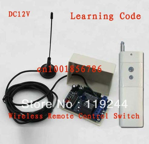 3000M DC12V 2CH RF Wireless Remote Control Switch System Transmitters and Receiver With Antenna For Applicance Garage Door dc12v 2ch rf wireless remote control witch 10 cat eye transmitters and 1 receiver universal gate remote control radio receiver
