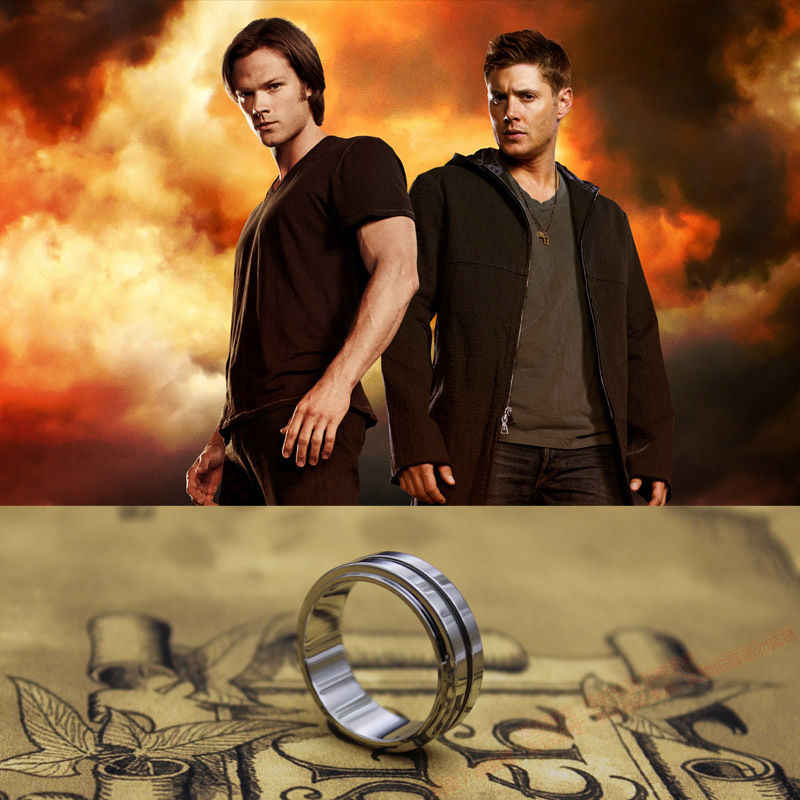 Titanium Steel Supernatural Dean's Ring  with a free Chain  Free shipping