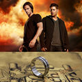 Titanium Steel Supernatural Dean's Ring  with a free Chain  Size 7~12 Free shipping