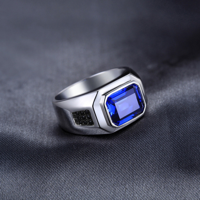 Blue Sapphire 925 Sterling Silver Ring2