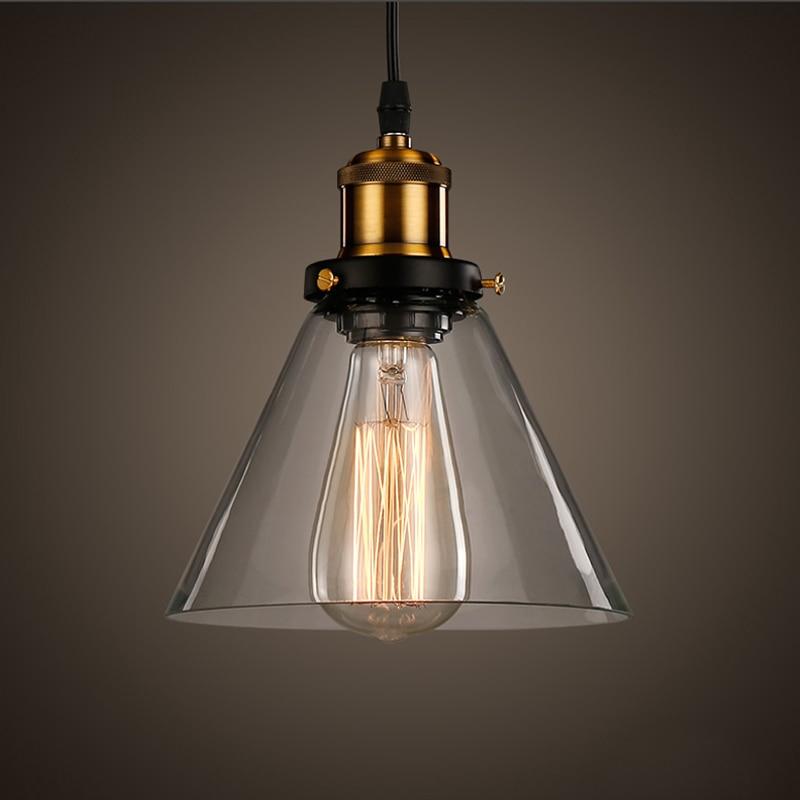 Vintage Pendelleuchte Schüssel Glas Hängelampe Edison Light - Innenbeleuchtung - Foto 3