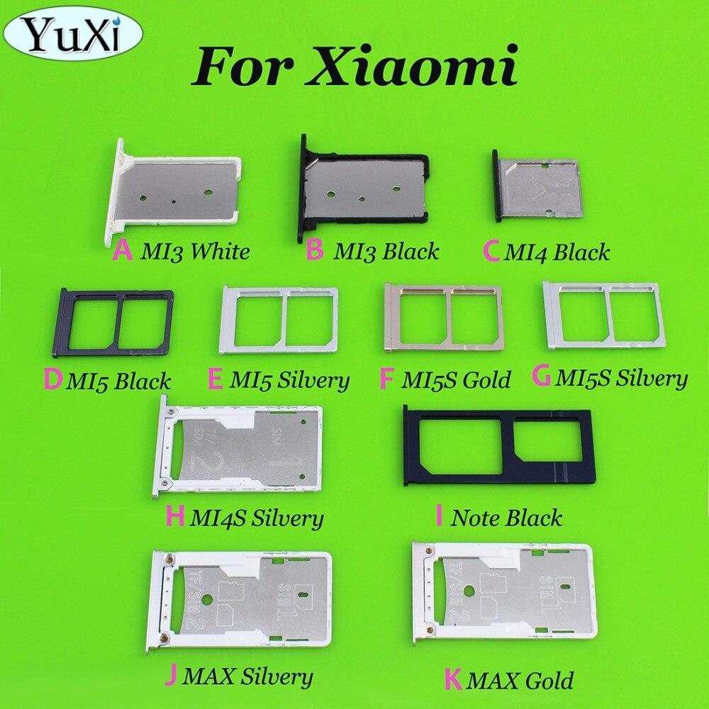YuXi Sim Card Holder Tray Card Slot For Xiaomi Mi3 Mi4 Mi5 Mi4S Note MAX Cell Phone sim card