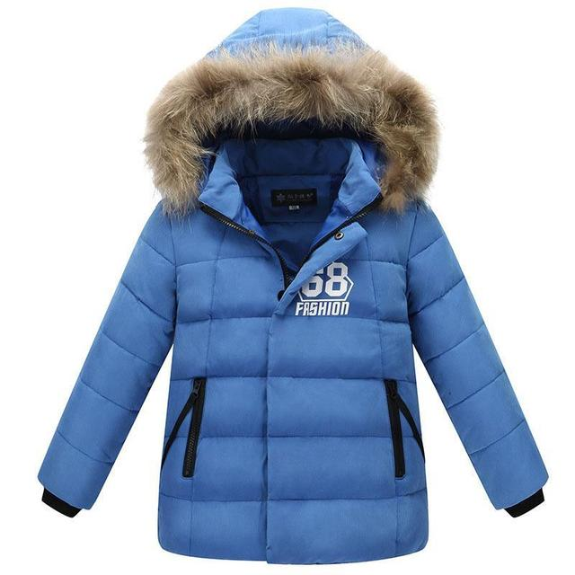 Hot Sale Boys Girls Winter Jackets Thicken Kids White Duck Down Parkas 5-13Y Childrens Hooded Coats High Quality Outwear
