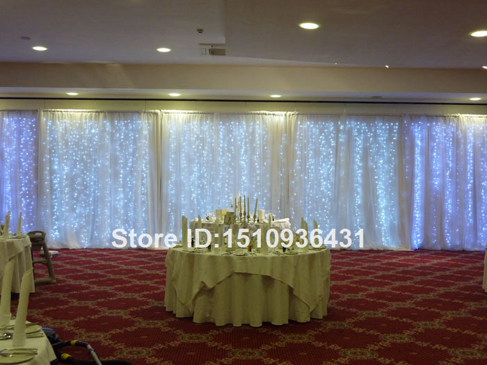3 12m big size wedding backdrop curtain with led light and