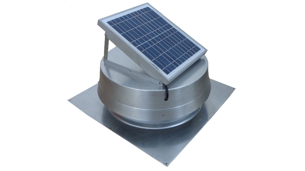 Solar Powered Attic Fan Exhaust Roof Vent Ventilator 10w