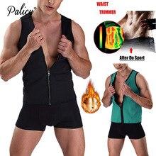 Фотография Palicy Shapers Men Ultra Sweat Thermal Muscle Shirt Neoprene Belly Slimming Sheath Corset Abdomen Belt Vest Tops Zip Shapewear