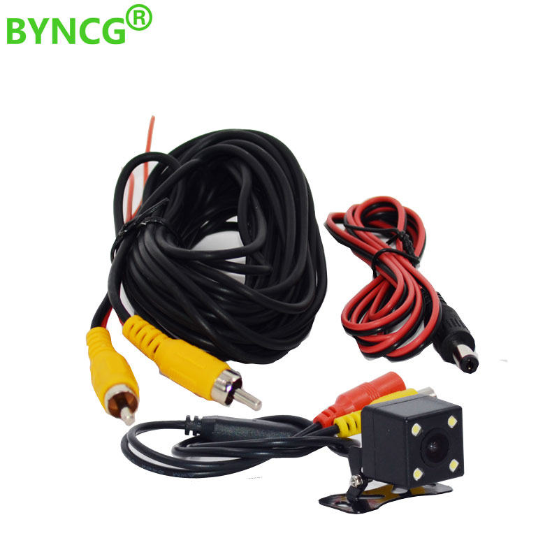 2018 New Universal wire harness for car rear view camera parking 5m video extension cable and 2018 new universal wire harness for car rear view camera parking