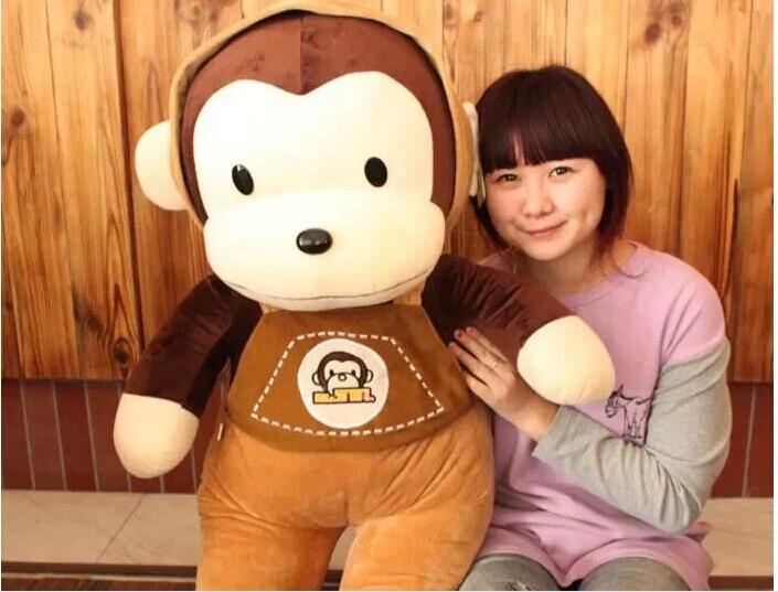 En peluche belle singe animal en peluche jouets bretelles singe jouet cadeau d'anniversaire environ 70 cm