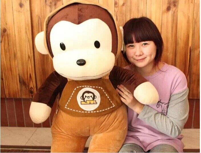 Peluche belle singe animaux en peluche jouets sangles singe jouet cadeau d'anniversaire environ 70 cm